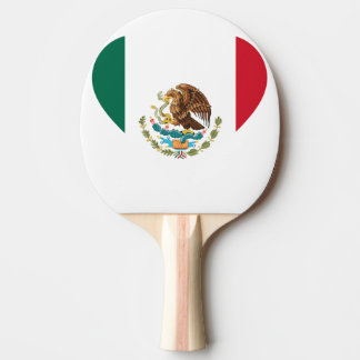 Mexican flag ping pong paddle