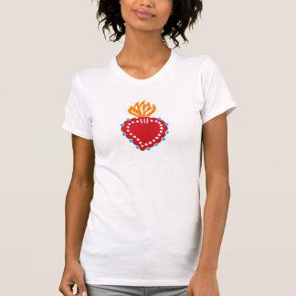 Mexican Folk Art Sacred Heart T-Shirt