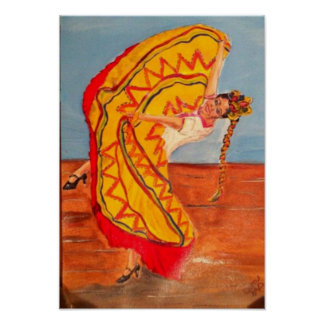 Mexican Folklorico Dancer Poster