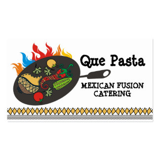 Mexican food cuisine flaming skillet catering pack of standard business cards