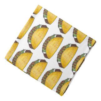 Mexican Food Foodie Taco Tacos Print Bandana