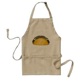 Mexican Food Hard Shell Taco Tacos Foodie Apron