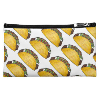 Mexican Food Taco Tacos Foodie Print Makeup Bag