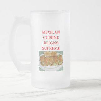 MEXICAN FROSTED GLASS BEER MUG