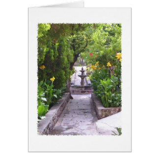 Mexican Garden Fountain Card