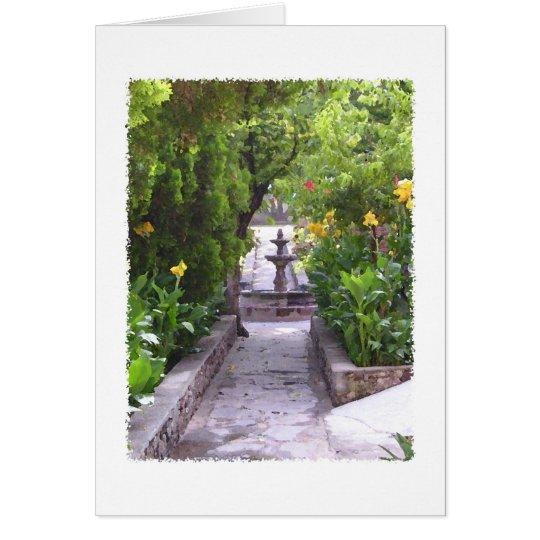 Mexican Garden Fountain Card