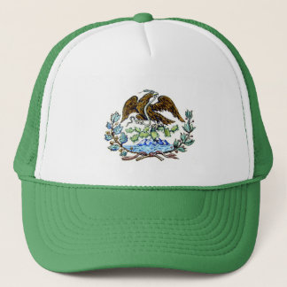 Mexican golden eagle trucker hat