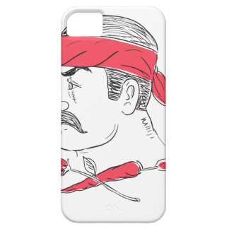 Mexican Guy Cigar Hot Chili Rose Drawing Case For The iPhone 5