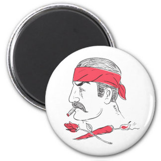 Mexican Guy Cigar Hot Chili Rose Drawing Magnet
