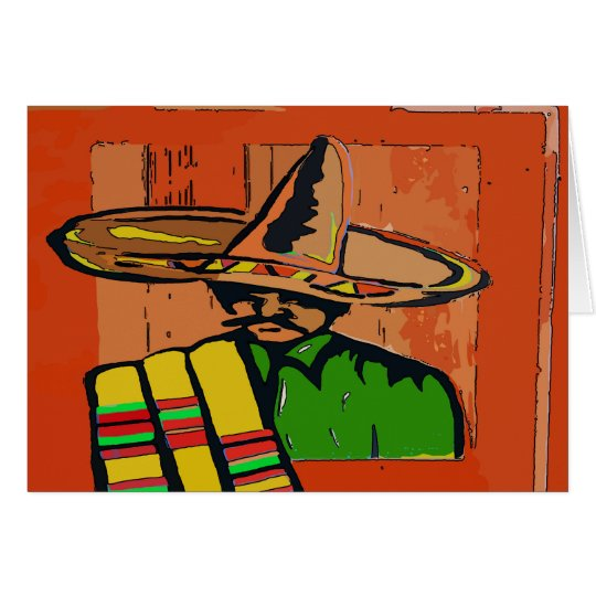 Mexican Hat Art Card