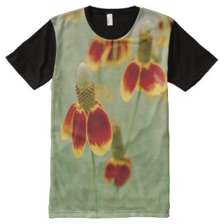 Mexican Hat Texas Wildflowers All-Over Print T-Shirt