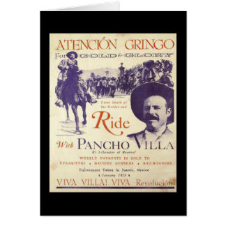Mexican Hero General Pancho Villa Card