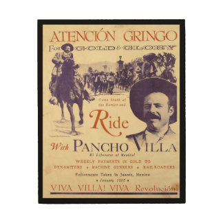 Mexican Hero General Pancho Villa Wood Wall Decor