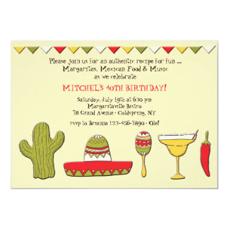 Mexican Icons Invitation