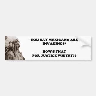 Mexican Invasion Bumper Sticker