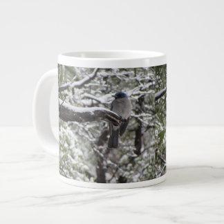 Mexican Jay on a Snowy Branch Jumbo Mug