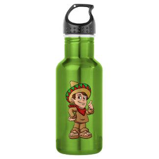 mexican kid cartoon. 532 ml water bottle
