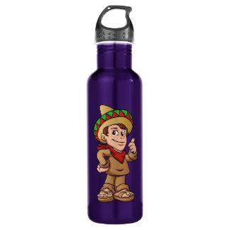mexican kid cartoon. 710 ml water bottle