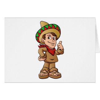 mexican kid cartoon. card