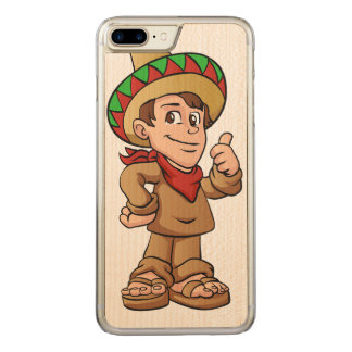 mexican kid cartoon. carved iPhone 7 plus case