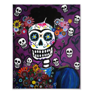 Mexican Lady Day of the Dead Painting Photo