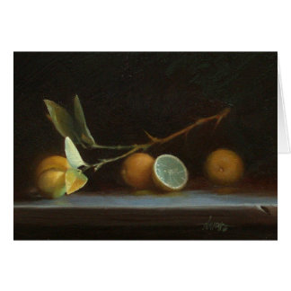 Mexican Limes, an Original Oil by David R. Darrow Card