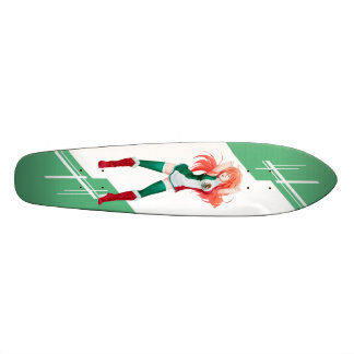 Mexican Manga girl dressed in Flag - Mexico 21.6 Cm Skateboard Deck