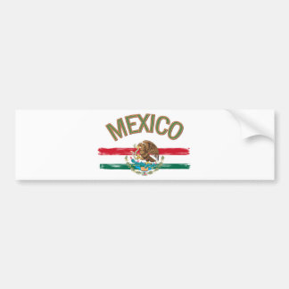 Mexican Mexico Flag Bumper Sticker