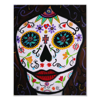 Mexican Muerto Face Day of the Dead Painting Photo Art