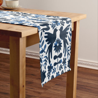 Mexican Otomi Themed Table Runner - Navy