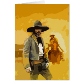 Mexican Outlaw Pop Art Greetings Card