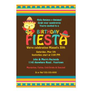 Mexican Owl Birthday Fiesta Card