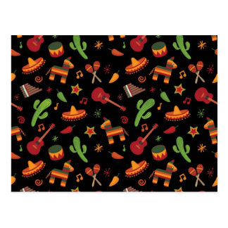 Mexican pattern postcard