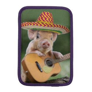 mexican pig - pig guitar - funny pig iPad mini sleeve