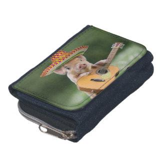 mexican pig - pig guitar - funny pig wallet