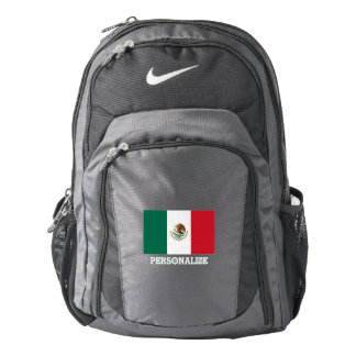 Mexican pride flag of Mexico personalized Backpack