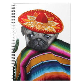 Mexican pug dog notebook