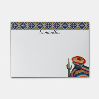 Mexican pug dog personalized post it note pad post-it® notes