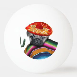 Mexican Pug dog Ping Pong Ball