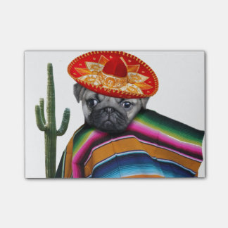 Mexican pug dog post-it® notes