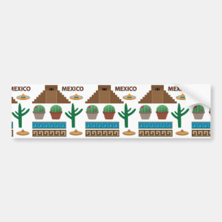 mexican pyramid bumper sticker
