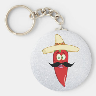 Mexican Red Pepper Key Ring