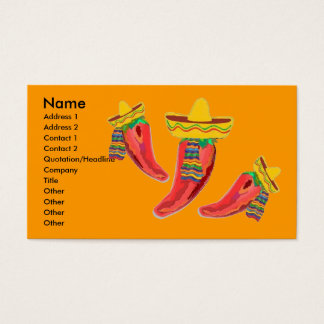 Mexican Restaurant Business Profile Card