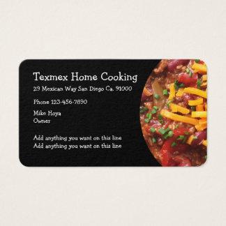 Mexican Restaurant Cuisine Business Card