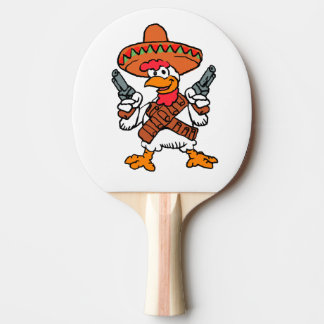 Mexican rooster ping pong paddle
