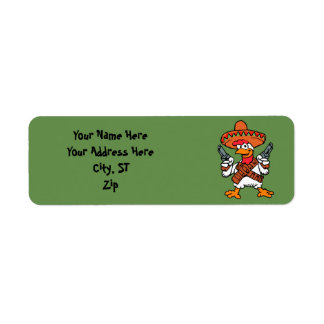 Mexican rooster return address label