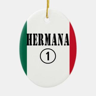 Mexican Sisters Hermana Numero Uno Christmas Tree Ornaments