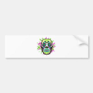Mexican Skull Bumper Sticker