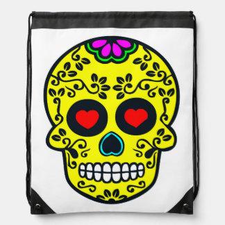 mexican skull Drawstring Backpack