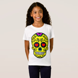 mexican skull Girls' Fine Jersey T-Shirt
